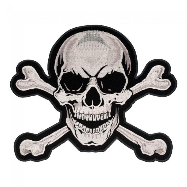 Tan Skull & Crossbones Patch, Skull Back Patches.