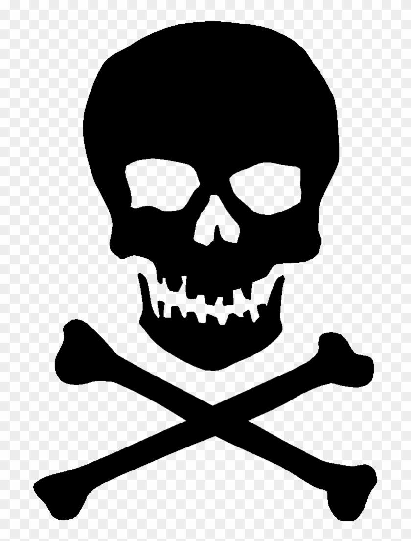 Black Skull Png Transparent Image.