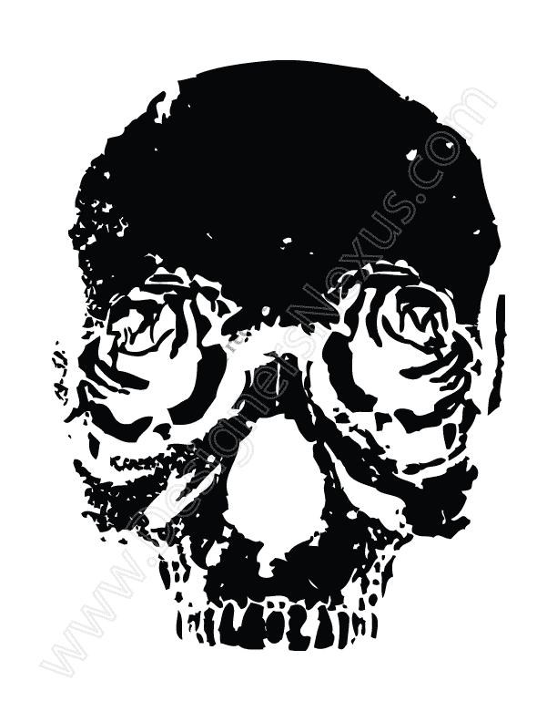 V13 Free Vector Graphic Rose Skull Clip Art.