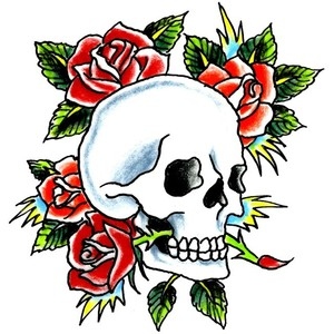 Skulls And Roses Clipart.