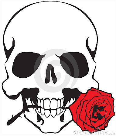 Skull And Rose Clipart.