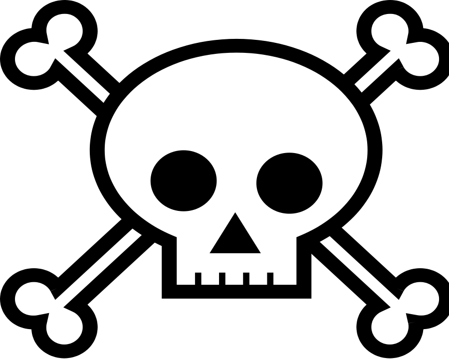 Skull and Crossbones Clipart, vector clip art online, royalty free.