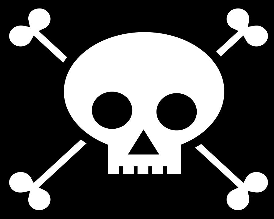 Skull and Crossbones Clipart, vector clip art online, royalty free.