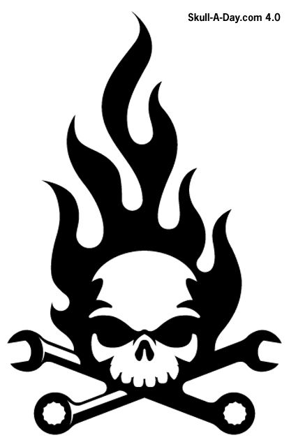 Skull & Wrenches Icon!.