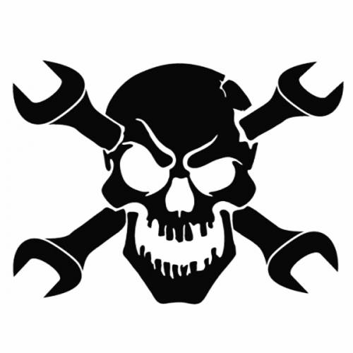 Skull with Wrenches makes for a cool maint logo.