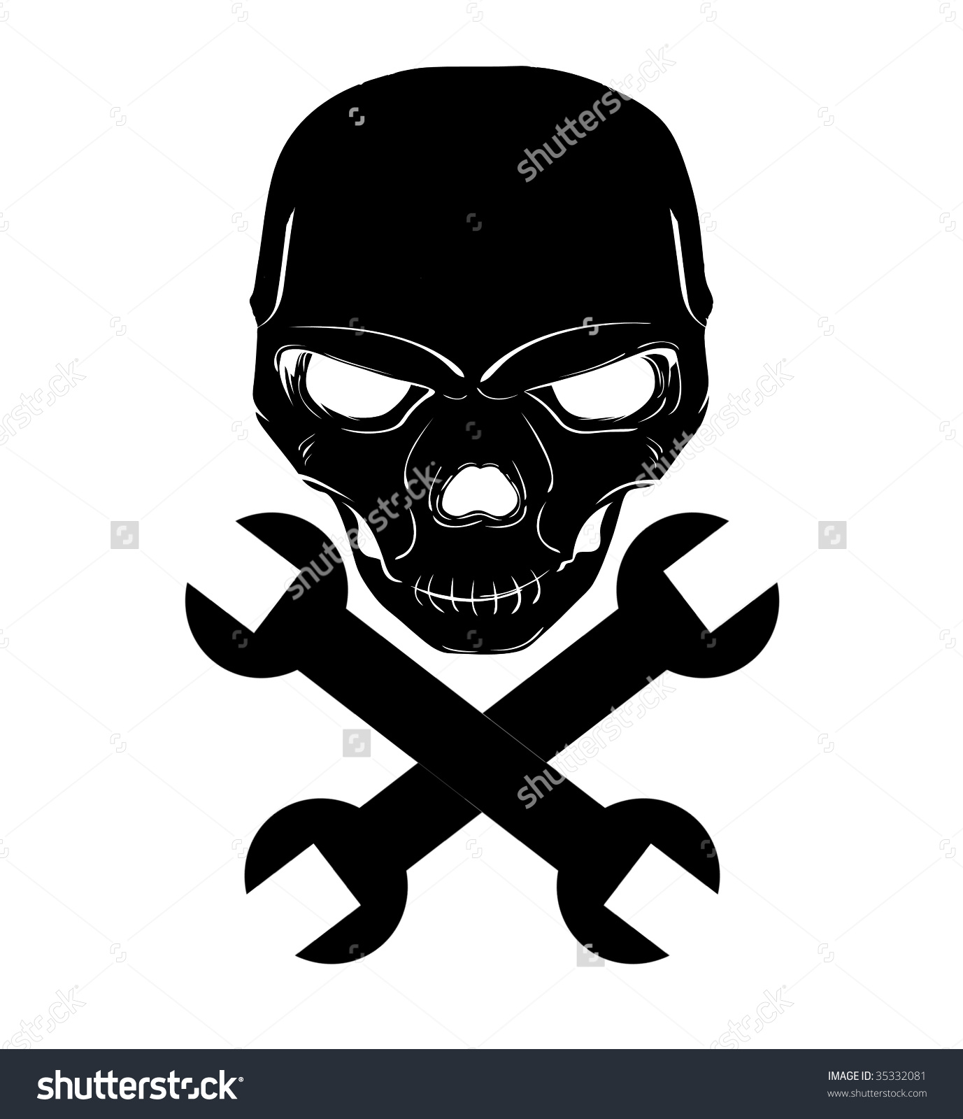 Skull Cross Wrenches Stock Illustration 35332081.