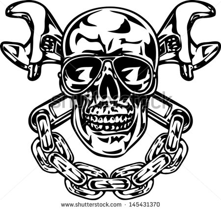 Similiar Skull And Wrench Logo Keywords.