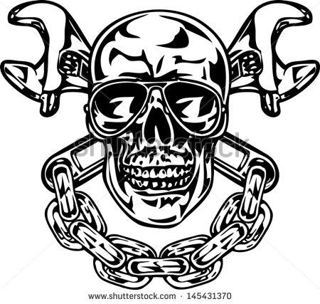 Similiar Skull And Wrench Logo Keywords.