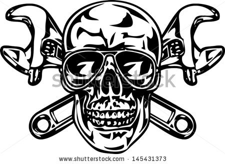 Skull and cross wrenches free vector download (1,289 Free vector.