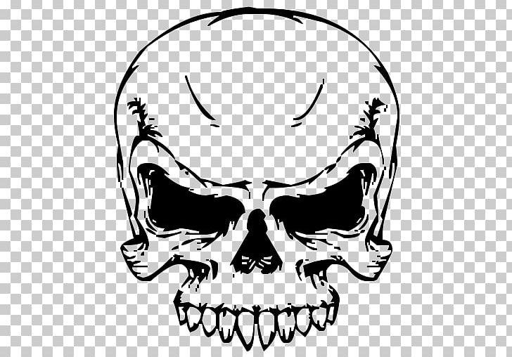 Skull PNG, Clipart, Black And White, Bone, Clip Art.