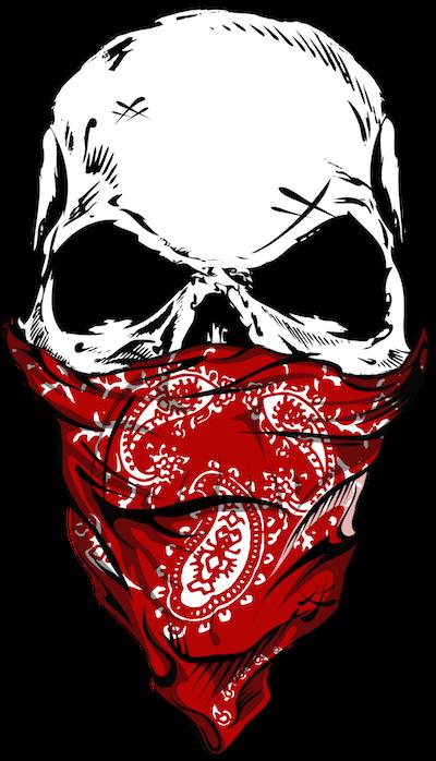 HD Skulls Transparent Gangster.