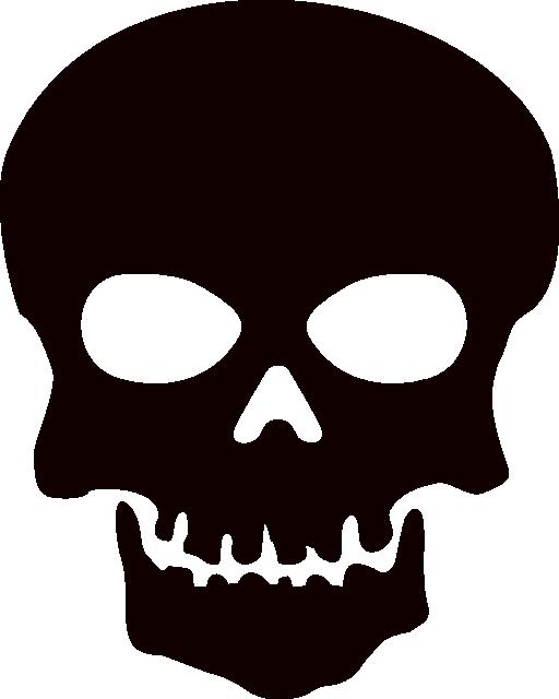 Skull Clip Art Black And White.