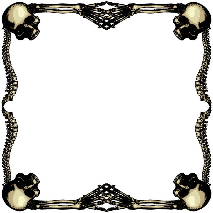 Skull Frame Cliparts.