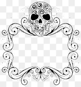 Skull clipart frame.