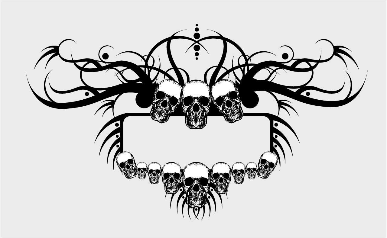 Free Skull Border Png, Download Free Clip Art, Free Clip Art.