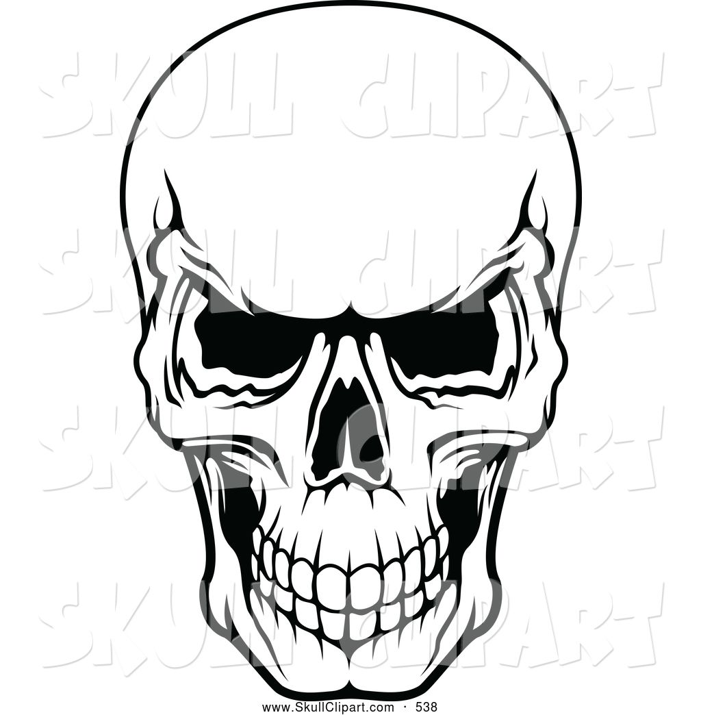 scary scull Clip Art.
