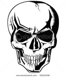 Skull Clipart Black And White.