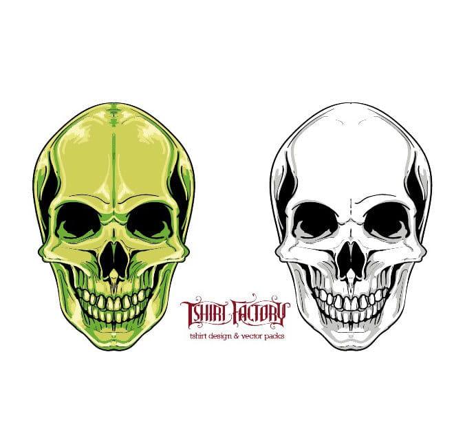 Skull vector clipart ai file.