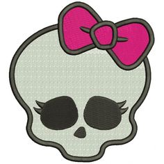 Skull Clipart For Embroidery Digitizing.
