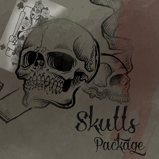 Download our New Package of Skulls Clipart in the Shop.