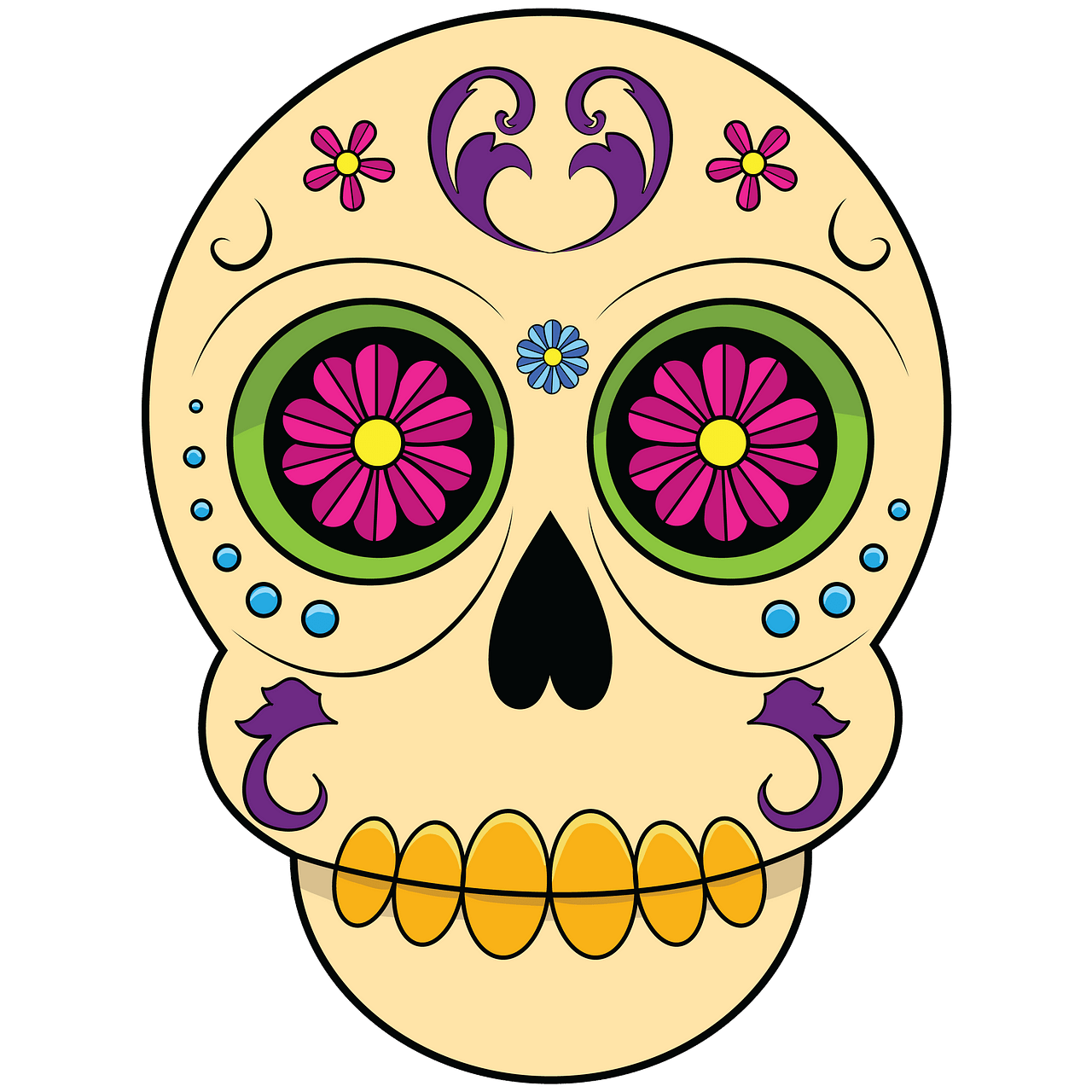 Sugar Skull clipart. Free download..