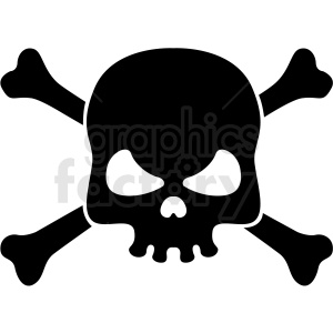 skull and bones vector clipart . Royalty.