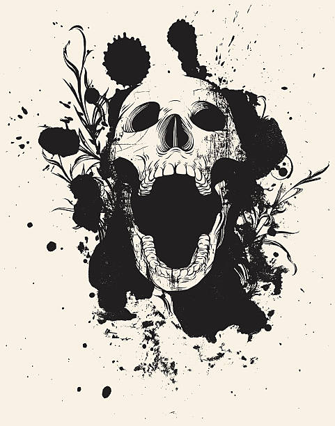 Open Mouth Skull Clip Art, Vector Images & Illustrations.