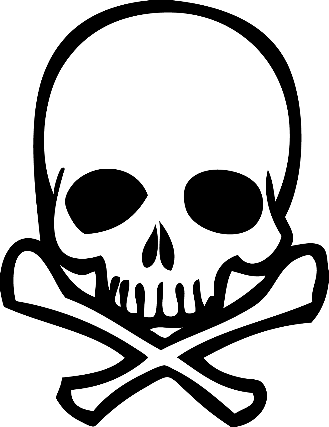 Skull and crossbones Drawing Human skull symbolism Clip art.