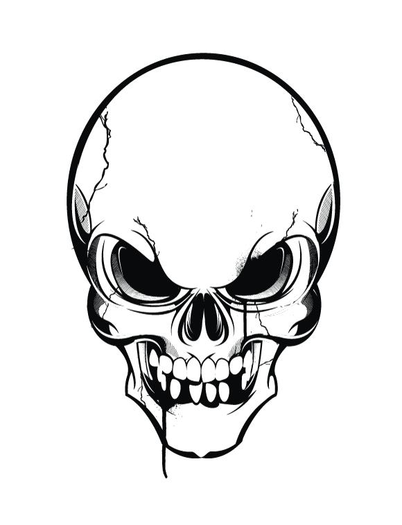 Skull Clipart Vector.