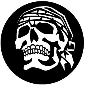 Skull With Headscarf Vector Clip Art.