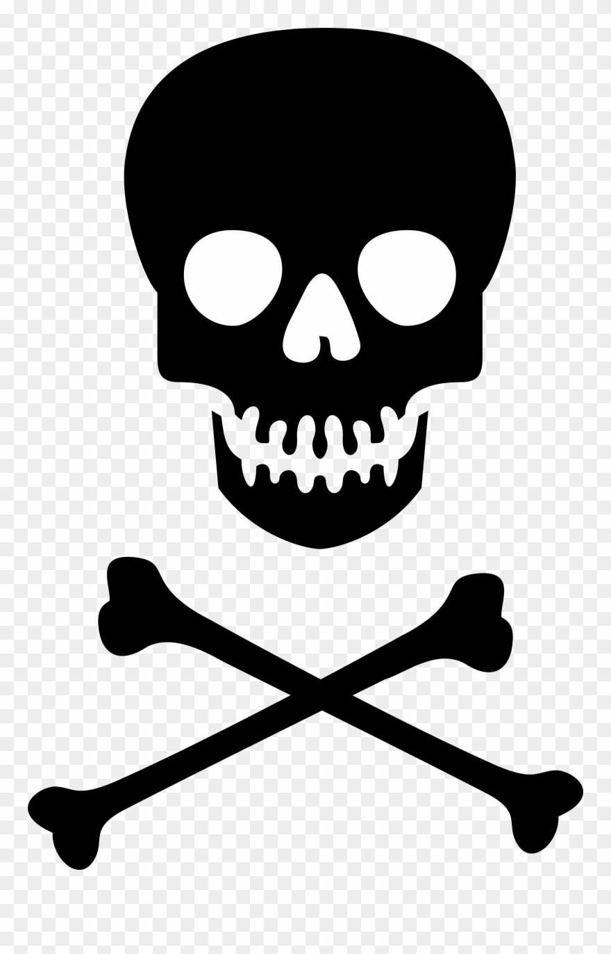 Skull And Crossbones No Background Clipart (#1423458.