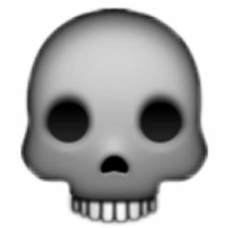skull #skullemoji #emoji #skeleton #scary #spooky.