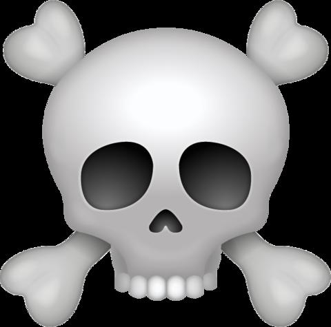Skull Emoji [Free Download iPhone Emojis].