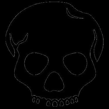 skull face clipart 62433.