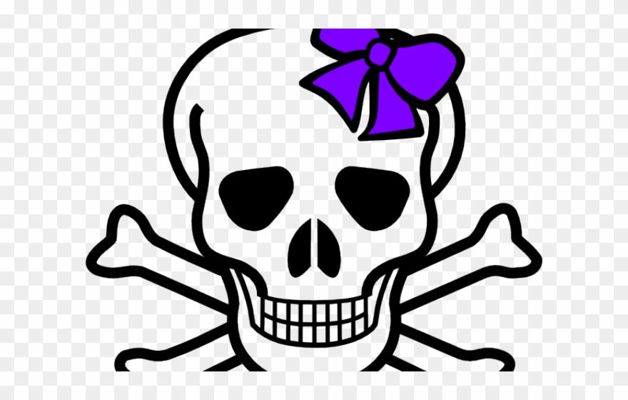 Skeleton Head Clipart Bow.