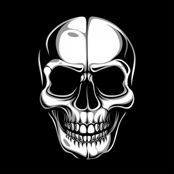 Skull Head PNG Images.