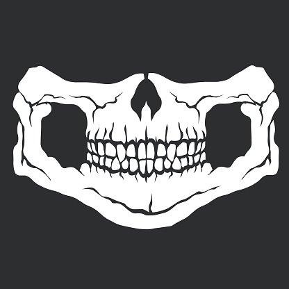 Face mask skull Clipart Image.
