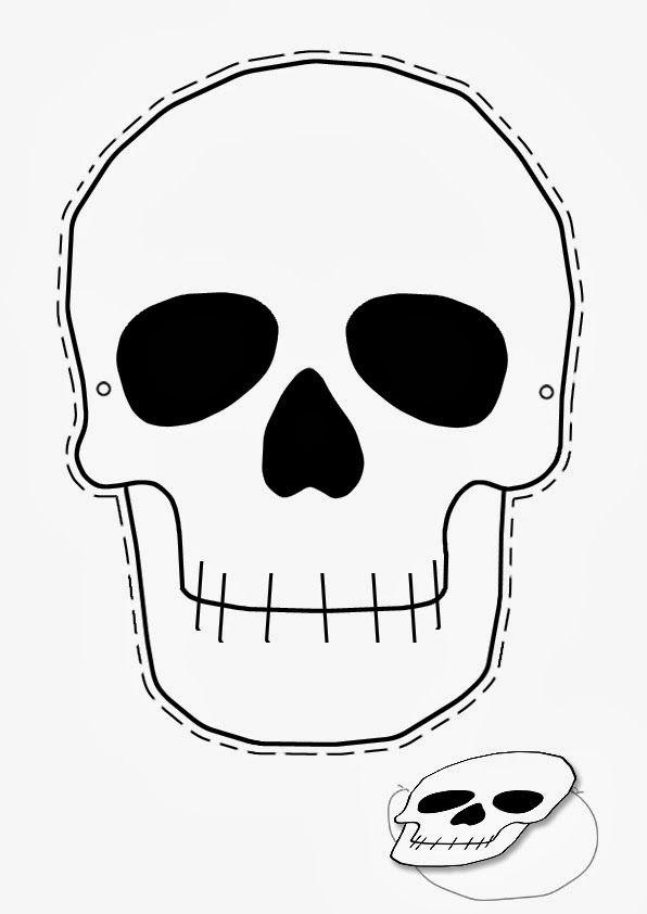 Halloween skull mask in 2019.
