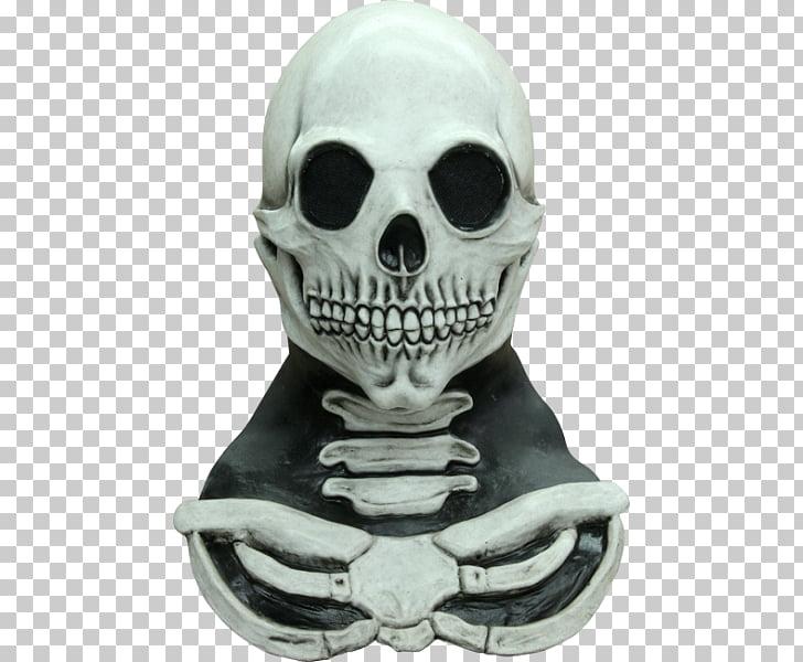 Skull Mask Halloween costume Calavera Skeleton, skull PNG.