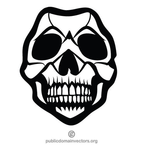 Human skull mask.