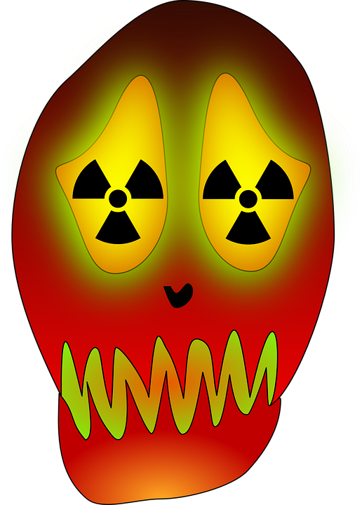 Free vector graphic: Skull, Atom, Energy, Nuclear, Power.