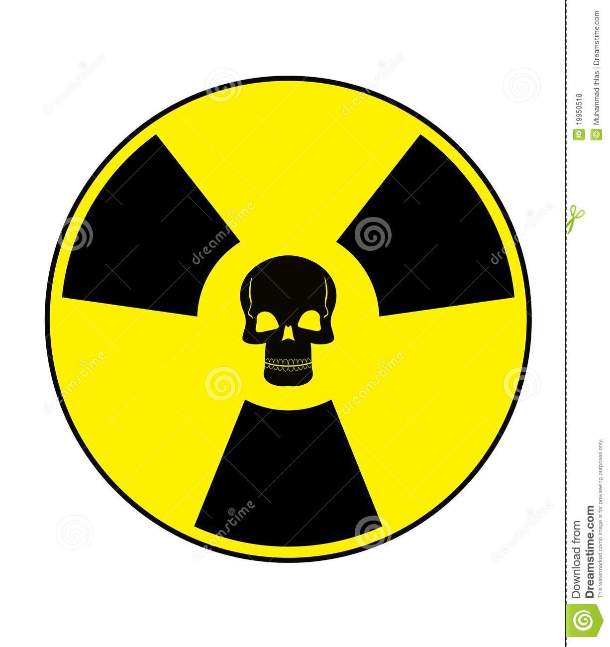 Nuclear Skull Royalty Free Stock Photos.