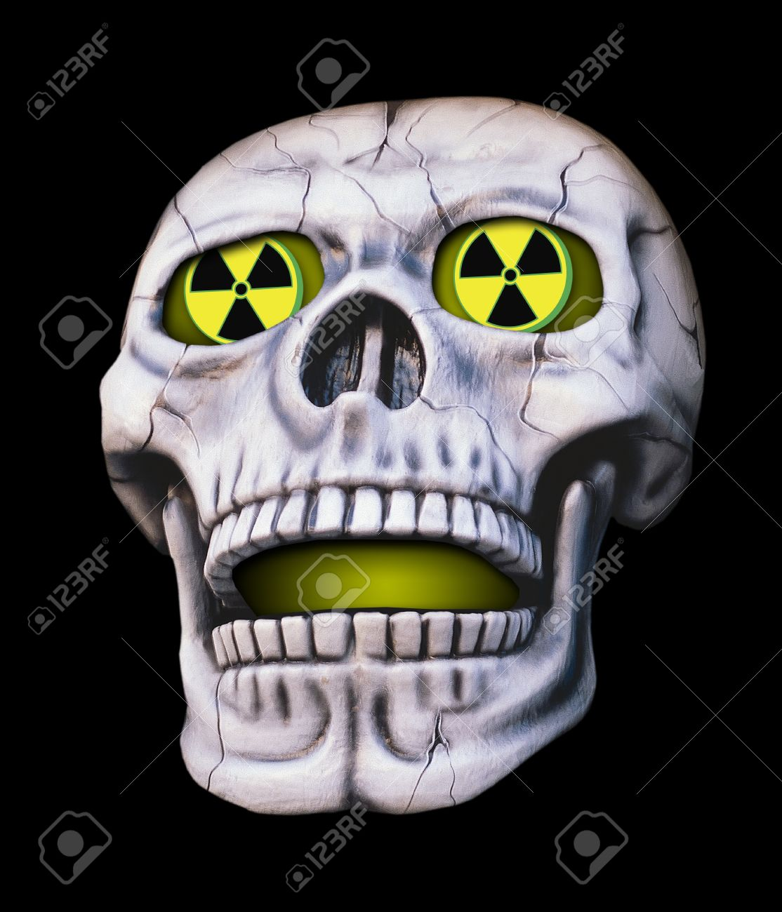 Nuclear Skull Stock Photo, Picture And Royalty Free Image. Image.