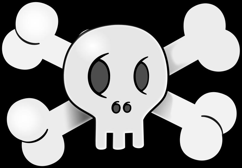 Cartoon Skull Clipart.