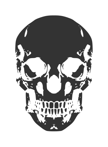 Human Skull Vector (EPS, SVG, PNG).