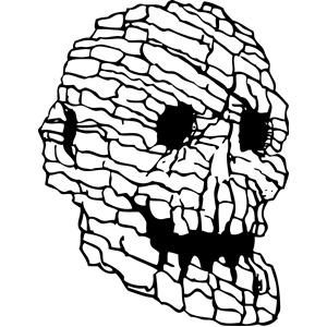 Rock Skull Clipart.