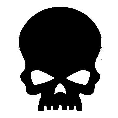 Skull Silhouette Clip art.