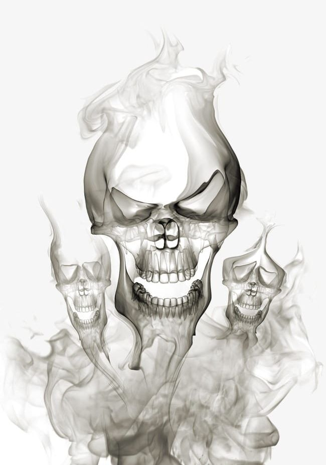 Smoke Polymerization Skull S PNG, Clipart, Backgrounds.