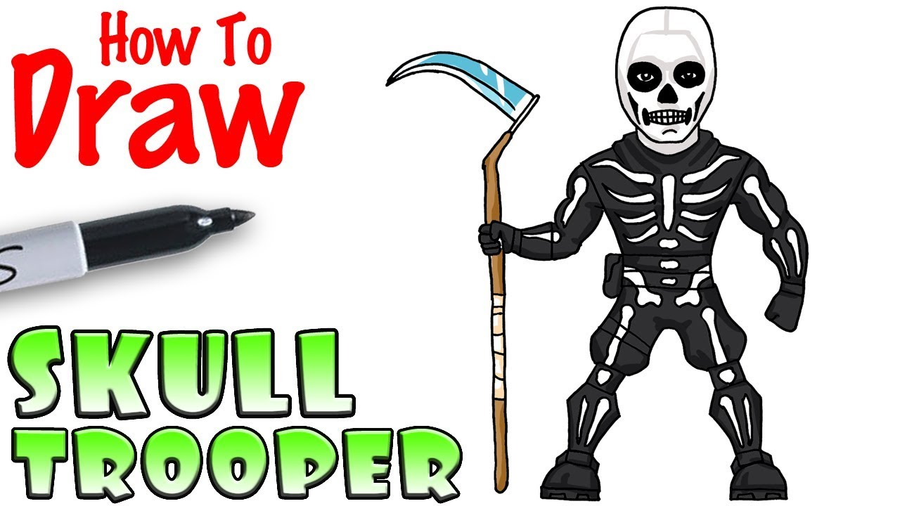 How to Draw Skull Trooper.