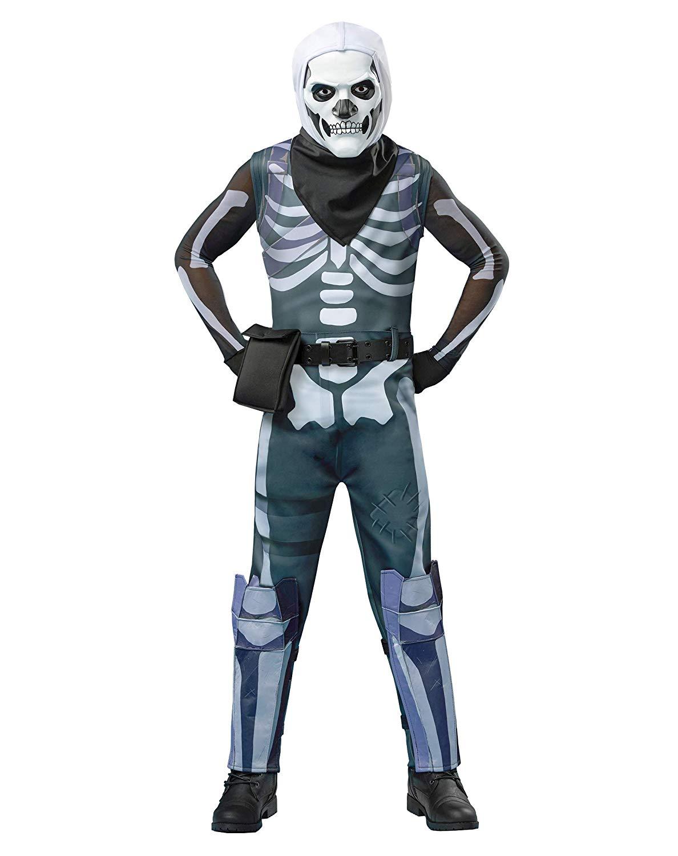 Spirit Halloween Boys Skull Trooper Fortnite Costume.